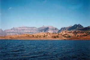 Kalsubai as seen from Bhandardara lake