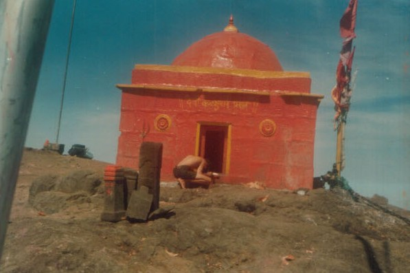 Kalsubai temple at the summit